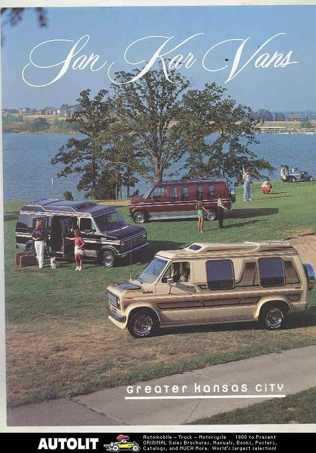 1985 1986 1987 ? San Kar Chevrolet Dodge Ford Conversion Van Brochure
