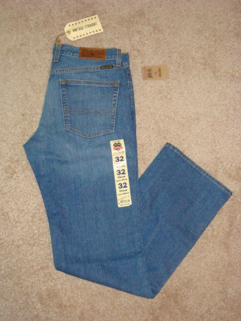 Mens Lucky Brand Vintage Straight Leg Lowrise Regular Fit Jeans