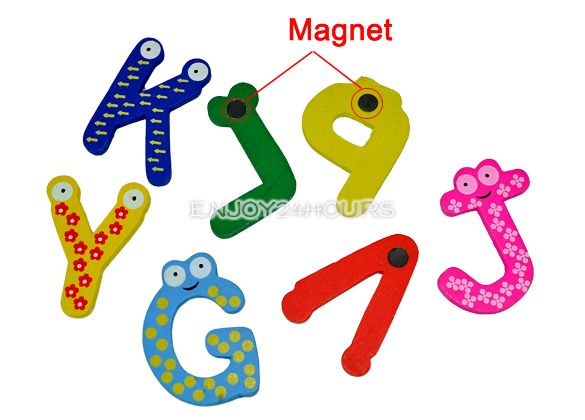 26 Letters Fridge Magnet Baby / Child Toy A Z ABC Educational Alphabet