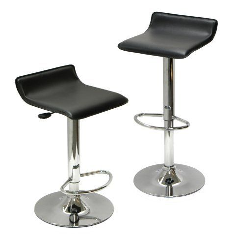 Winsome Wood Air Lift Adjustable Stools Set of 2 Bar Table Chairs