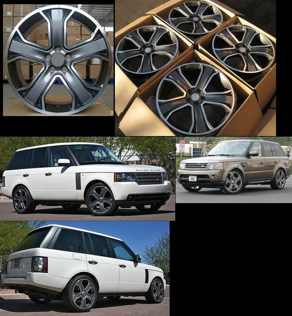 Set for Range Land Rover HSE LR3 Super Charger Alloy Rims