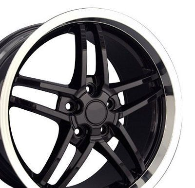 18 19 8.5/10 Black C6 Z06 Deep Dish Wheels Rims Fit Camaro Corvette