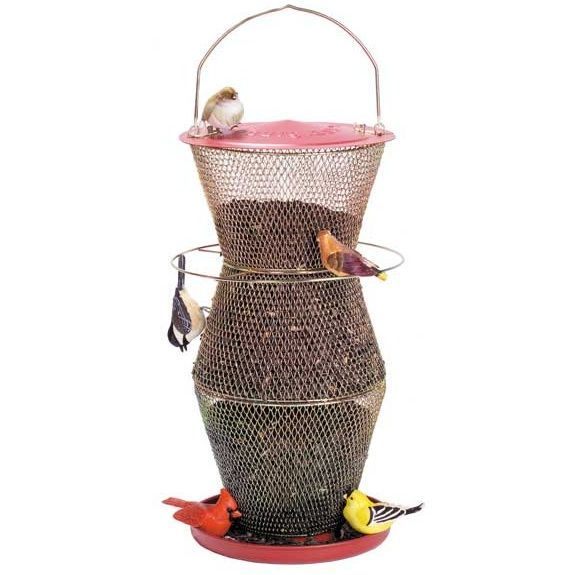 no no cardinal 3 tier red brass super bird feeder no wood and no