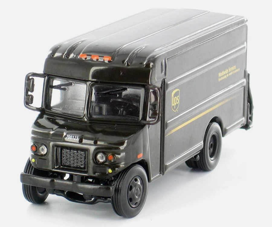 Service UPS Delivery Truck P80 187 HO Scale Diecast Model Truck