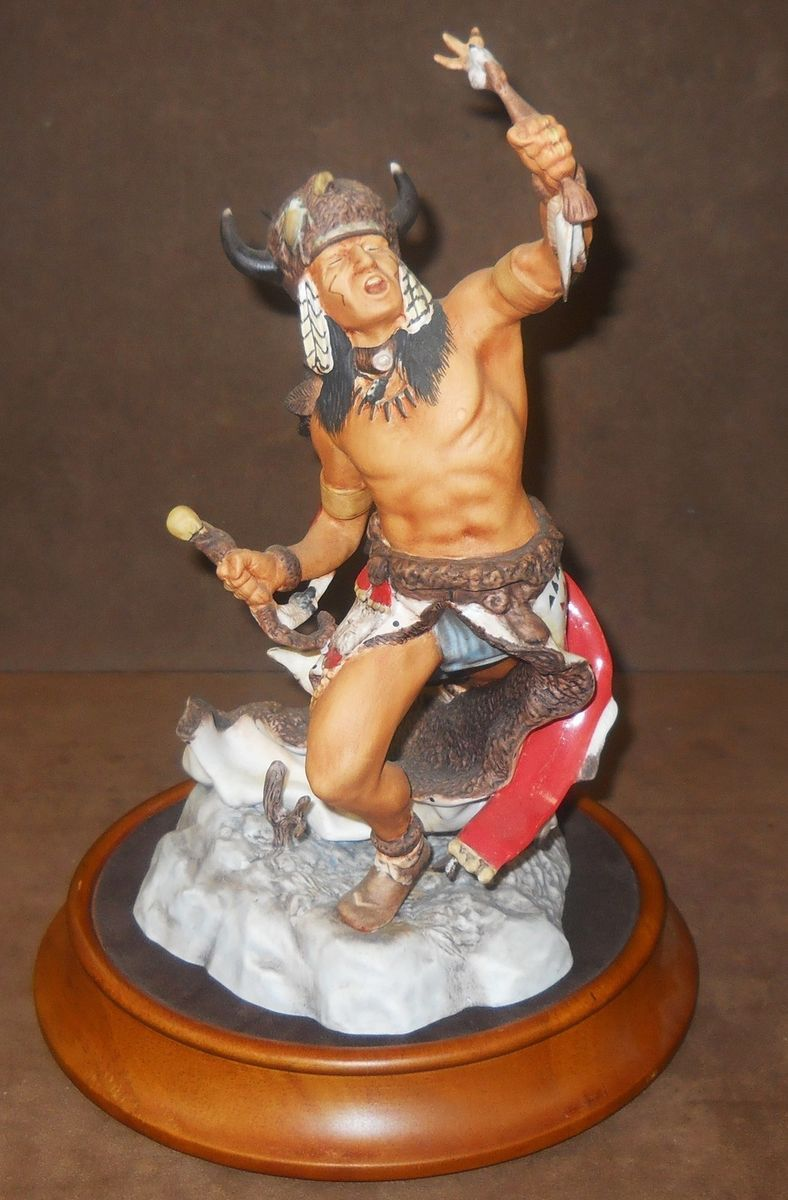THE SIOUX Franklin Mint Native American Porcelain Sculpture R Murphy