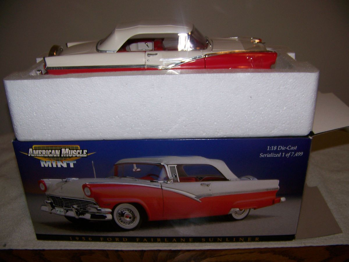 1956 Ford Fairlane Sunliner American Muscle Mint 1 18 Diecast Car
