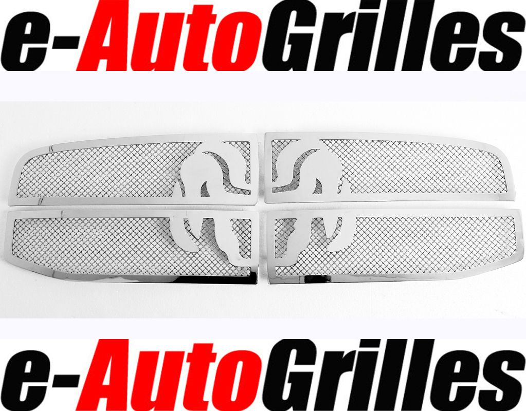 08 Dodge RAM Chrome Stainless Steel Mesh Overlay Grille Insert