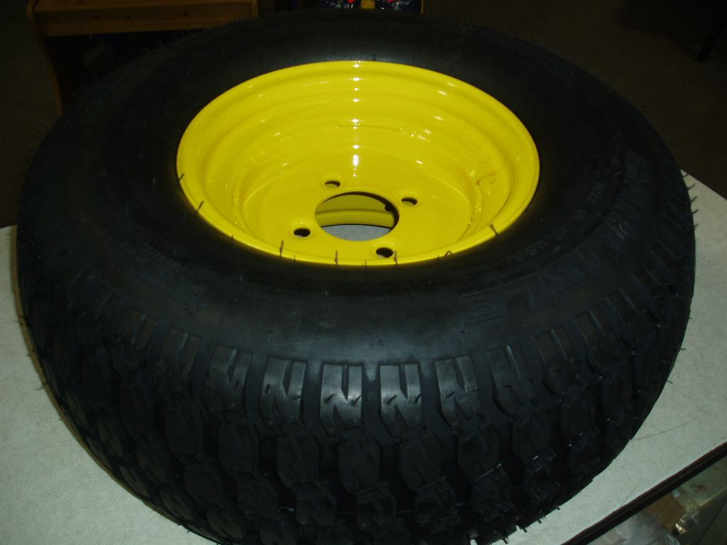 JOHN DEERE LAWNMOWER TIRE mounted on 4 hole rim CARLISLE 22 X 9 50 10