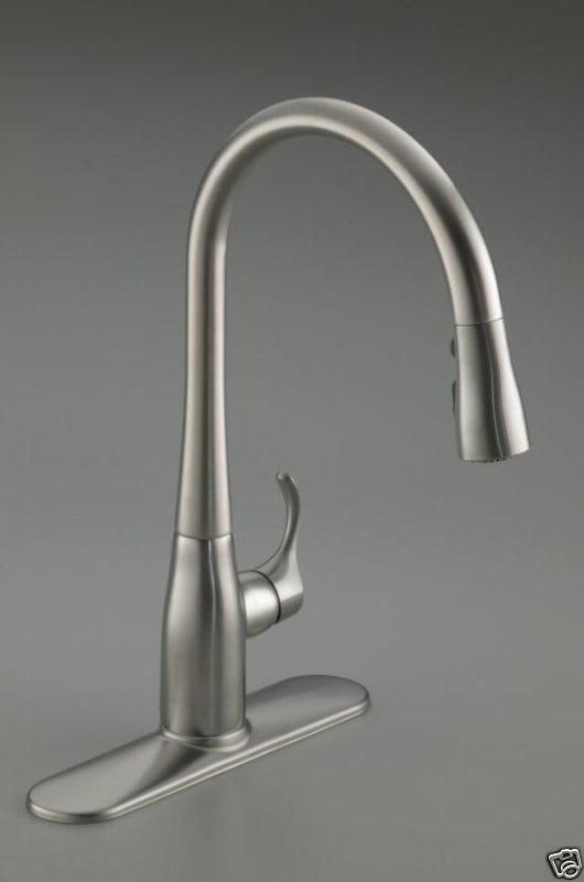Kohler Simplice One Handle Kitchen Faucet 3 Spray Stainless Steel K