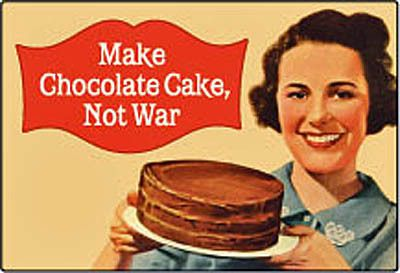 Make Chocolate Cake not War Funny Fridge Magnet HB LG