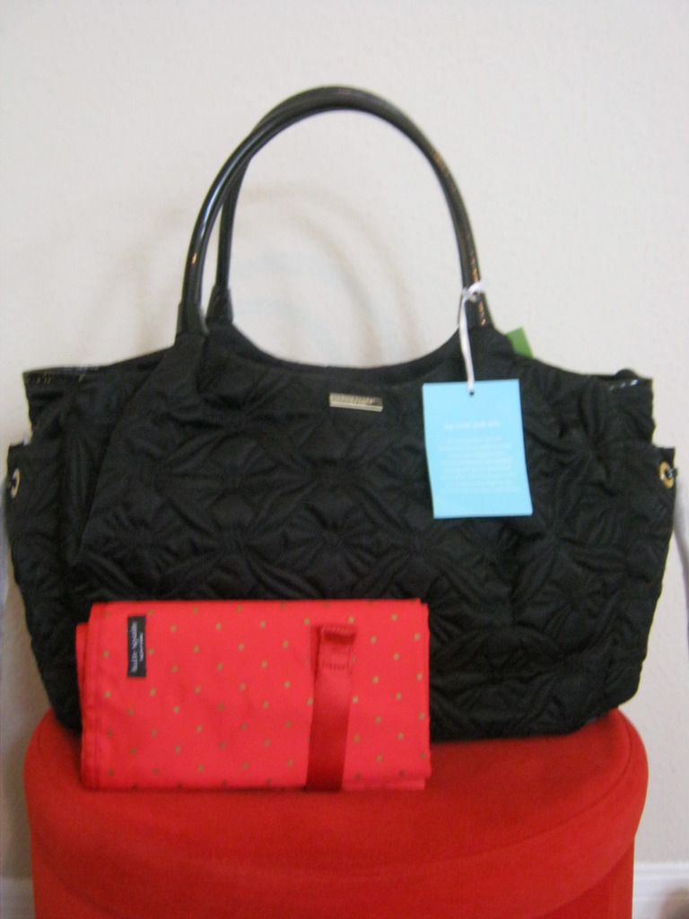 Kate Spade Marivaux Stevie Baby Diaper Bag Black