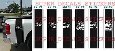 Dodge Ram 1500 HEMI POWER R/T Bed 2 STRIPE KIT Truck Decal Sticker