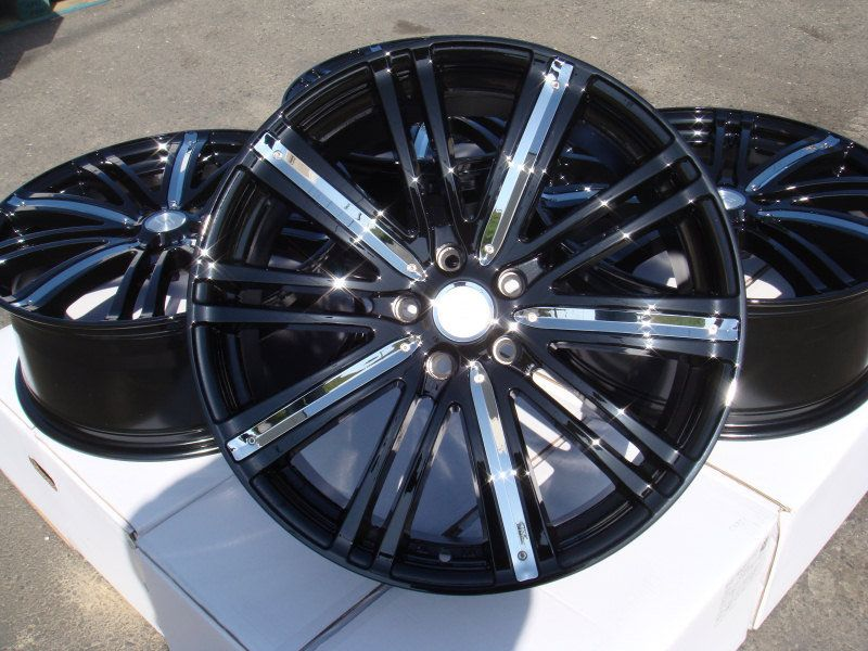 20 Effect Wheels Black Rims Acura MDX Dodge Nitro Ford Edge Accord