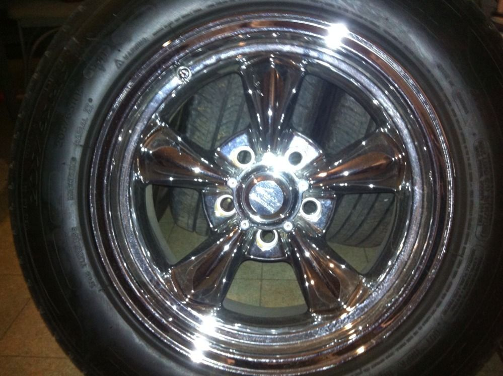 15x8 Chrome American Racing VN815 Wheels Rims Hot Rod Chrome